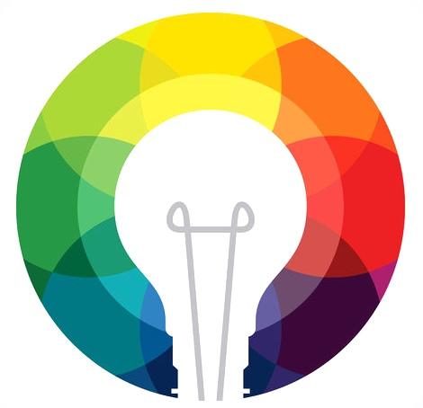 Image représentant une idée (ampoule colorée)